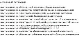 Россия Удручающая статистика