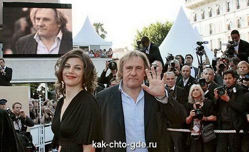 Жерар Депардье с Клементин Игу