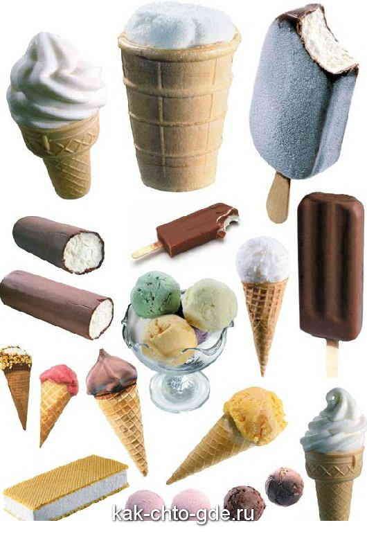 Виды мороженого
