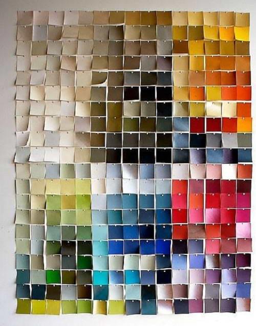 Оформление стены с помощью стикеров