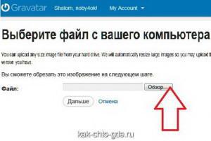 Щелкаем по кнопке «Обзор» и выбираем фото или картинку для аватара