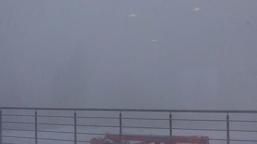 Лаура, вид из окна пресс-центра, туманно.