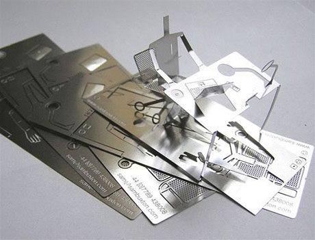 Визитка из алюминия
