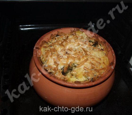 Картошка с мясом, с грибами в горшке,курица с картошкой в горшке.