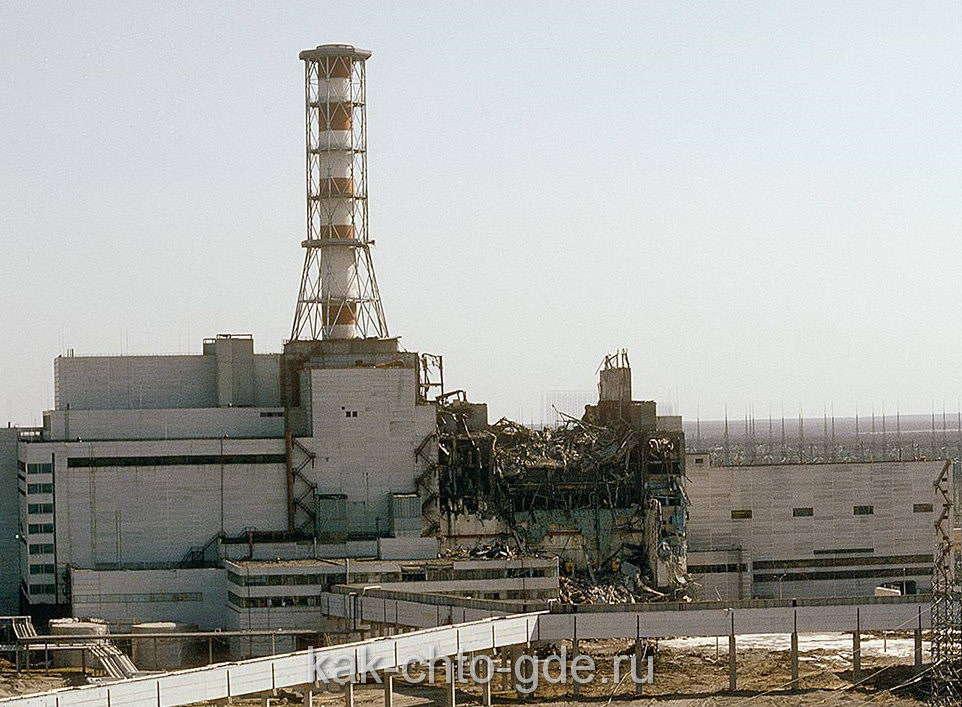 Чернобыль авария, фото четвертого энергоблока