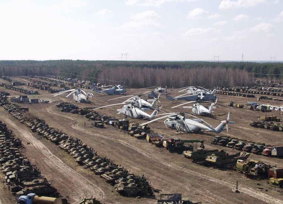 кладбище чернобыльской техники