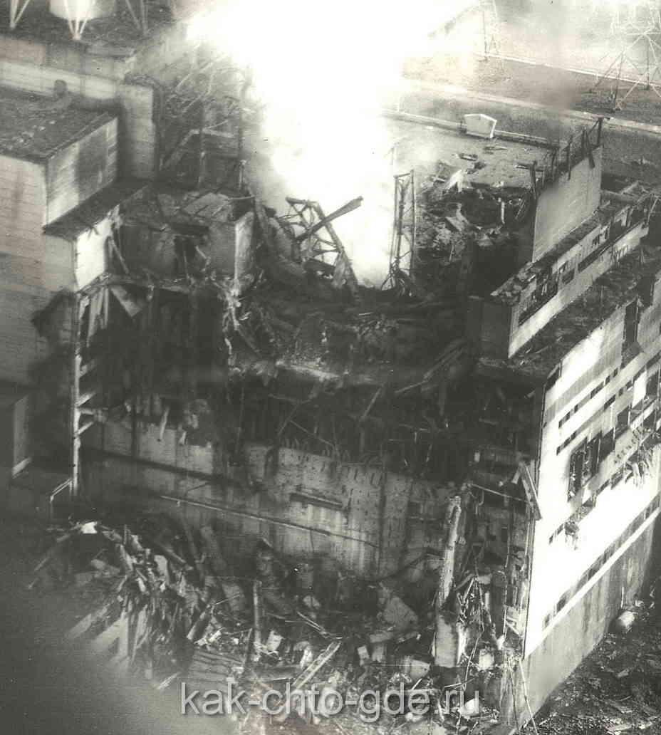 одна из первых фотографий реактора четвертого энергоблока