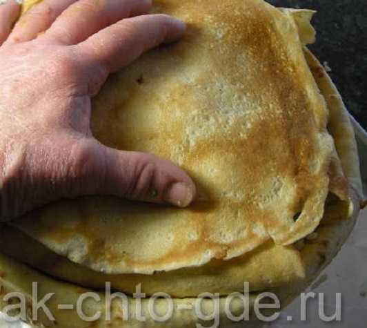 блинный пирог +с мясом