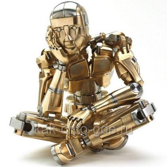 Человек из металла в раздумье