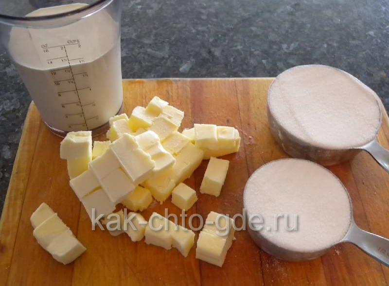 Ингридиэнты для приготовления карамелиfoto