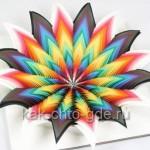 объемные поделки из цветной бумаги 3d