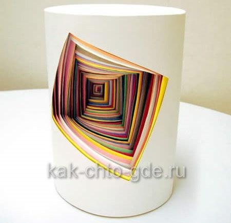 объемные 3d поделки из цветной бумаги