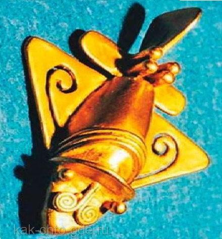 артефакт золотой самолетик