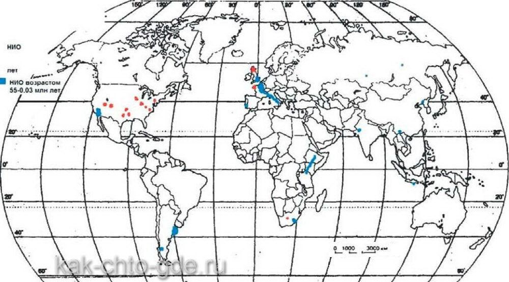 районы с ранними и поздними НИО нигде между собой близко не соприкасаются и не пересекаются
