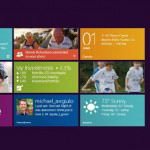The startup screen of Windows 8