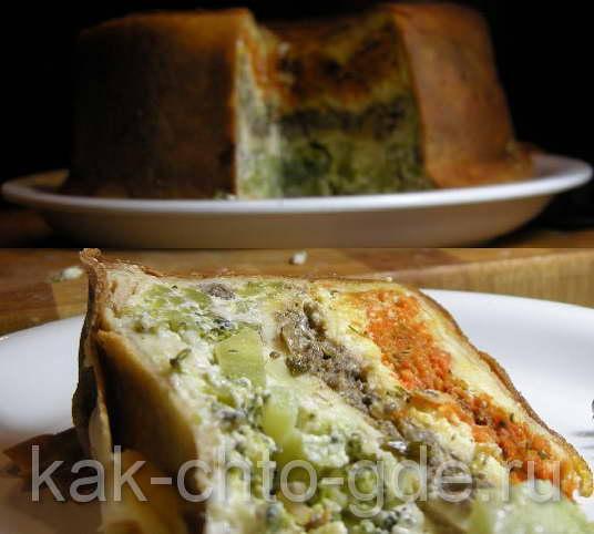 Блинный пирог рецепт заварной крем