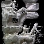 литые фигуры из бумаги